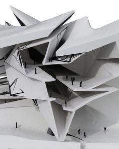 Folding Architecture, Architecture Model Making, Futuristic Architecture, Concept Architecture, Amazing Architecture, Contemporary Architecture, Interior Architecture, Architecture Diagrams, Triangular Architecture