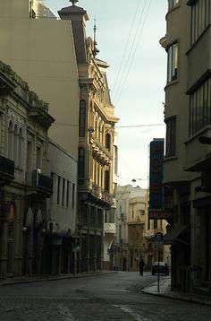 La ciudad vieja de Montevideo.