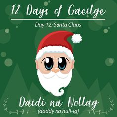 "Karen McCormick on Instagram: ""Nollaig Shona Daoibh! Merry Christmas everyone! hope everyone had a good one #learnirish #gaeilge #ireland #santa #wordoftheday #irish…"""