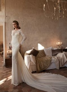 Cheap robe de mariage, Buy Quality backless bridal gown directly from China bridal gown Suppliers: 2017 Vintage Long Sleeve Trumpet Lace Wedding Dresses Embroidery Backless Bridal Gowns Custom Made Handwork Robe De Mariage Mermaid Wedding Dress With Sleeves, Wedding Dress Train, 2015 Wedding Dresses, Bridal Dresses, Wedding Gowns, Lace Wedding, Wedding Bride, Wedding Blog, Paris Dresses