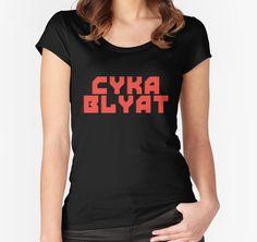 Cyka Blyat - Tee Print by StickerBomber