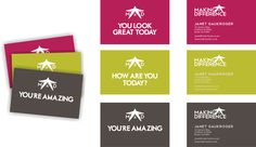 Business cards for Making a difference
