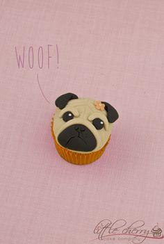 Pug Cupcake on Cake Central