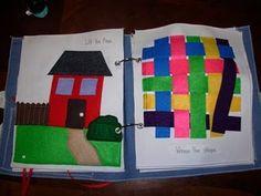 Quiet Book Ideas - weaving page