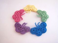 BOGO BUTTERFLIES  TWO medium crocheted by DeeDeesDetails on Etsy, $5.00