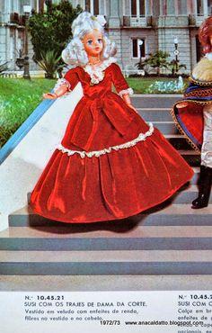 Ana Caldatto : Boneca Susi Susi D.Pedro I, Boneca Susi Dama da Corte e Susi Imperatriz
