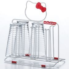 Hello Kitty kitchen glass stand Kawaii ribon Sanrio