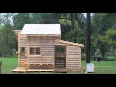 Refugee Housing made out of shipping pallets!