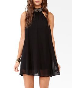 Babydoll dresses are the cutest! Pair it with bright platforms to add a fun spin to it.