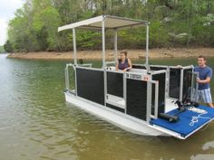 Now this application should float your boat!  A pontoon totally outfitted and framed with 80/20 panels, extrusions and accessories!