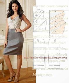 Para fazer este molde de vestido drapeado dois tecidos siga o passo a passo. O passo a passo tem como principal objectivo ajudar quem tem pouca...