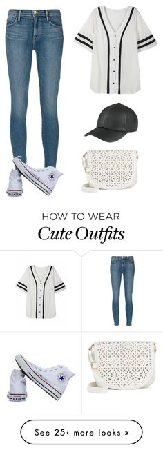 """""""A simple cute outfit, you can wear to a baseball game"""" by miya-ramadan on Polyvore featuring Frame Denim, Converse and Under One Sky"""
