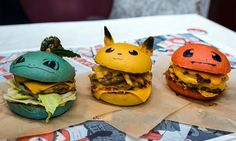 Those are some tasty-lookin' Pokémon burgers. They're from Down N' Out burgers…