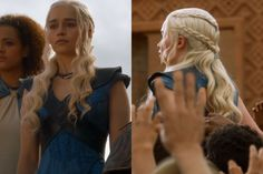 Season 3, episode 10: Only the Mother of Dragons can sack a city, release all of its slaves, and still have perfect hair.