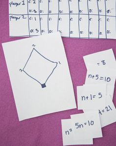 Fourth Grade Algebra Functions Activities: Play Math Baseball! Math Teacher, Math Classroom, Teaching Math, Teaching Tips, Classroom Ideas, Algebra Activities, Math Resources, Math Games, Lounges