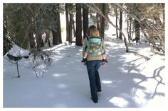 I love when fresh snow mutes all the sounds of the forest except the stream:):):) #babywearing