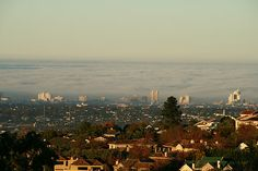 View from Cape Vermeer, Sea fog over False Bay Cape Town Accommodation, Design Suites, Paris Skyline, Sea, Luxury, Travel, Viajes, Ocean, Trips