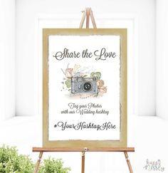 Sign for Hashtag of your Wedding Photos Wedding Hashtag Sign, Wedding Signs, Love Tag, Share The Love, Just Married, Creative Art, Signage, Wedding Photos, Wedding Planning
