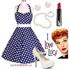 Lucille Ball Costume by hepburnholic on Polyvore featuring Edward Bess, vintage fashion, costume, vintage, vintage style, lucille ball and inspired