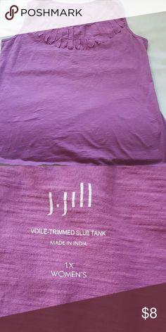 1X. J.Jill  tank Pink Tank. 1X J. Jill Tops Tank Tops