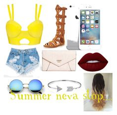 """""""Summer!!!!!"""" by miahwithstyles on Polyvore featuring Levi's, KG Kurt Geiger, GUESS, Bling Jewelry and Lime Crime"""