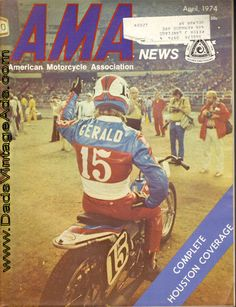 1974, Mike Gerald accepts the approval of an enthusiastic Houston Astrodome crowd.  Mike rode his first dirt track at our track when I was just a small girl. He was about 16 years old.
