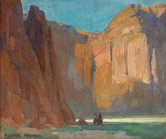 Navajos, Canyon De Chelly By Edgar Payne . Truly Art Offers Giclee Unframed Prints on Paper, Canvas Art, and Framed Art in all our Collections. Oil Painting For Sale, Oil Painting Abstract, Paintings For Sale, Oil Paintings, Southwestern Art, Landscape Artwork, Traditional Paintings, Watercolor Portraits, Native American Art