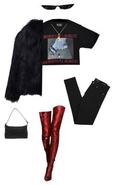 """Untitled #330"" by cymonejanae ❤ liked on Polyvore featuring WithChic, Yves Saint Laurent and Fendi"