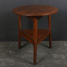 Welsh Cricket Table-19th C Welsh Elm cricket table. 1840.