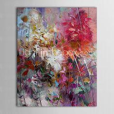 pinturas a óleo modernas folhas coloridas telas abstratas pintadas à mão pronto para pendurar | LightInTheBox