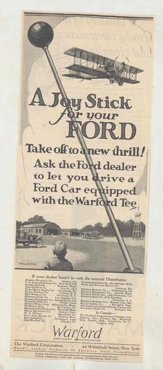 Model T Ford Forum: A joystick for your Ford