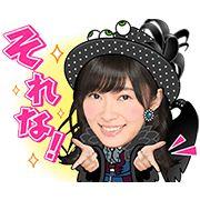 AKB48: Kokoro no Placard + Dulcet Tones (Halloween HORROR Night) - http://www.line-stickers.com/akb48/