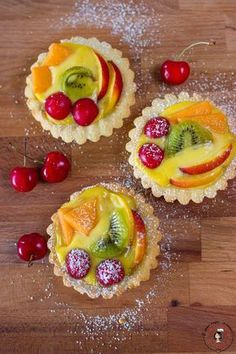 Bake your favorite treats with our many sweet recipes and baking ideas for desserts, cupcakes, breakfast and more at Cooking Channel. Delicious Desserts, Dessert Recipes, Yummy Food, Fruit Tartlets, Biscotti Cookies, Mini Tart, Italian Desserts, No Bake Cake, Sweet Recipes