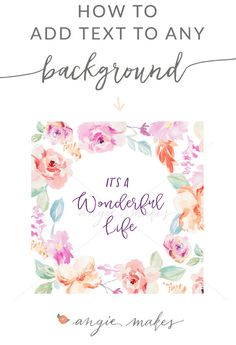 In this tutorial I'm going to touch on how to add your own custom text to any background you…