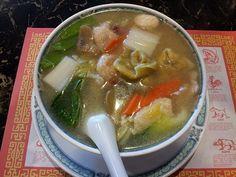 Joe And Tea's Favorite Wor Wonton Soup Recipe from Teresa War Wonton Soup Recipe, Wor Wonton Soup, Asian Recipes, Oriental Recipes, Ethnic Recipes, Bucket Recipe, Healthy Cooking, Healthy Snacks, Souped Up