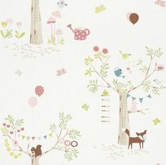 Shop Rasch Bird Butterfly Woodland Pattern Childrens Wallpaper Forest Tree Rabbit Free delivery on eligible orders of or more. Beige Nursery, Nursery Room, Room Wallpaper, Art Decor, Home Decor, Bunt, Most Beautiful Pictures, Paper Art, Woodland