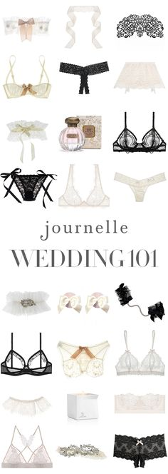 Welcome to your dream wedding lingerie. From lace garters to honeymoon naughties, explore our Wedding 101.