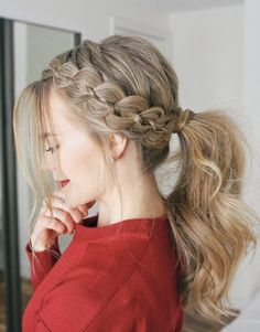 Braided hairstyles are the way to go in the but do you know what all the different types of braids are? Find out the difference between a French braid, Dutch braid, and other braids are with this ultimate guide! types of Braids # long Braids dutch Braided Ponytail Hairstyles, African Braids Hairstyles, Easy Hairstyles, Popular Hairstyles, Hairstyle Ideas, Hairstyles 2018, 1950s Hairstyles, School Hairstyles, Hair Updo