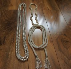 Estate Vintage Jewelry Necklace Set  Beaded  Handmade seed Beaded  ,White,Cream , Faux Pearls, Choker  F-008 by VintageEstate86 on Etsy