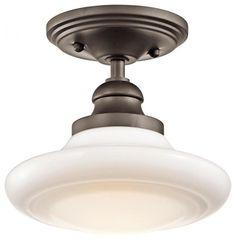 Kichler Keller One Light Brushed Nickel Down Pendant transitional-pendant-lighting