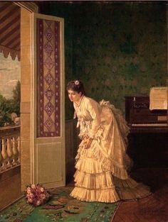 Toulmouche, Auguste (b,1829)- Surprise Bouquet -2b