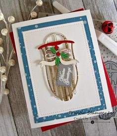 stamping up north with laurie Elegant Christmas, Pink Christmas, Christmas Cards, Tiny Tags, Reindeer Face, Pine Garland, Frantic Stamper, Winter Project, Card Making Supplies