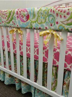 A personal favorite from my Etsy shop https://www.etsy.com/listing/253267899/crib-beddinggirl-baby-beddingcrib
