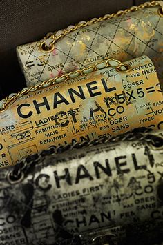 Chanel Handbags. I love the design of these bags, they almost look antique! they would look so pretty with a black suit and black heels!
