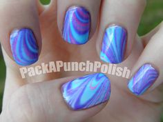 Pack A Punch Polish • Water Marble Nails BLOG POST TUTORIAL