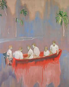 Figures in Red Boat, 2005-07. Peter Doig