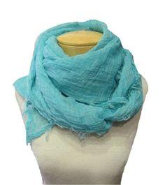 Eileen Fisher Tinted Cotton Gauze Square Scarf - Deep Aqua http://www.melange4women.com/eifiticogasq.html