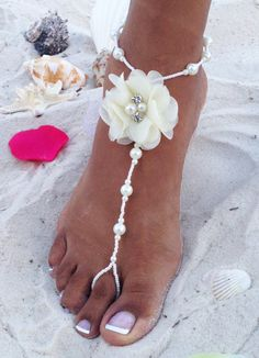 Temperate Fashion Anklet Chain Bracelet Barefoot Sandal Bridal Beach Pearl Foot Jewelry Fk Anklets