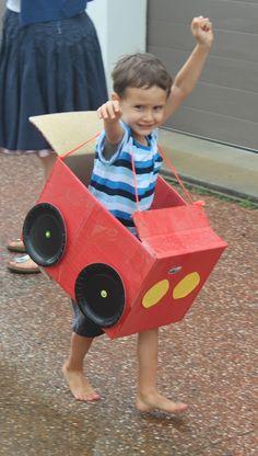 Cardboard Box Race Cars