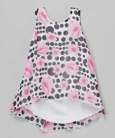 13e1ed65 Pink & Black Floral Tunic - Girls by Lipstik Girls #zulily #zulilyfinds  Floral Tunic
